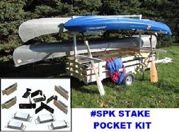 SPK STAKE POCKET KIT FOR CANOE KAYAK TRAILERS
