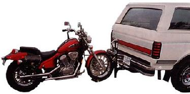 TOW YOU MOTORCYCLE FROM YOUR HITCH WITH OUR MOTORCYCLE CADDY