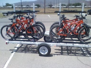 8 place bicycle bike trailer